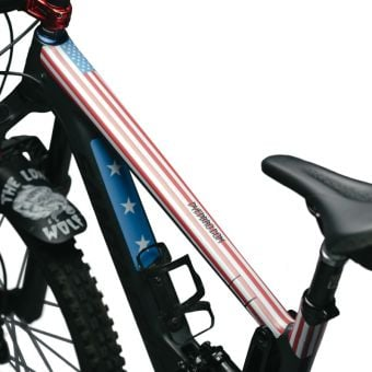 DyedBro Frame Protection Wrap American Flag Red/White/Blue