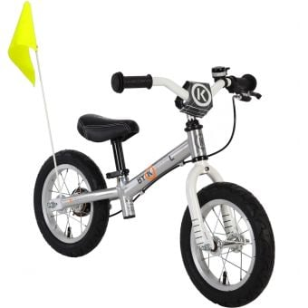 "ByK E-200L 12"" Balance Bike Polished Alloy/White"
