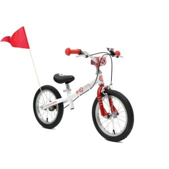 ByK E-250L Balance Bike White/Bright Red
