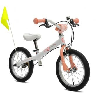 ByK E-250L Girls Balance Bike White/Royal Pink