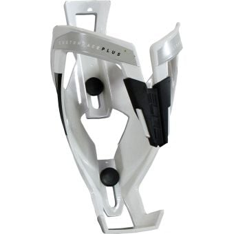 Elite Custom Race Plus Bottle Cage Gloss White/Black