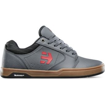 Etnies Camber Crank Flat Shoes Grey/Gum/Red