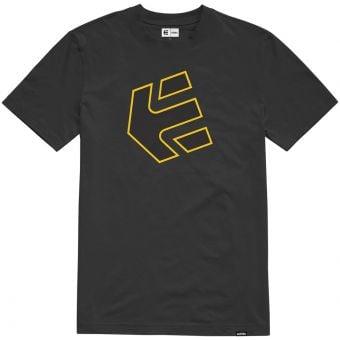 Etnies Crank SS T-Shirt Black/Yellow 2021
