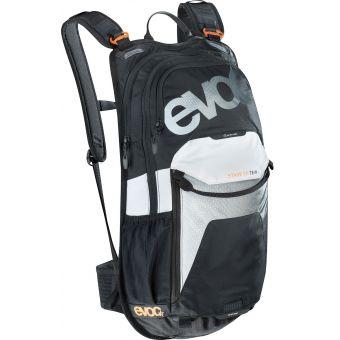Evoc Stage 12L Team Back Pack Black/White/Neon Orange