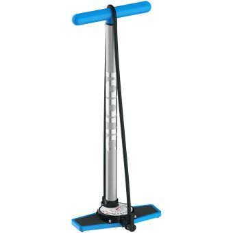 Fabric Hi-Volume Track Floor Pump Silver/Blue