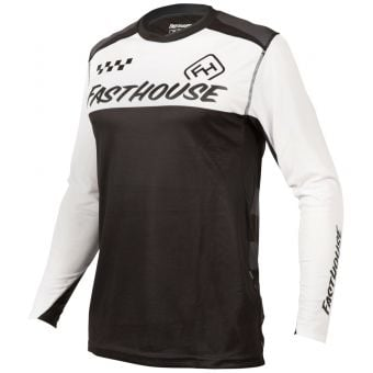 Fasthouse Alloy Block LS Jersey White/Black 2021