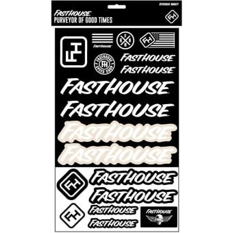 Fasthouse Assorted Sticker Sheet Black/White