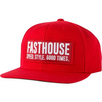Fasthouse Blockhouse Hat Red Unisize