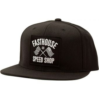 Fasthouse Fast Flags Hat Black Unisize