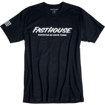 Fasthouse Logo Short Sleeve T-Shirt Black 2021