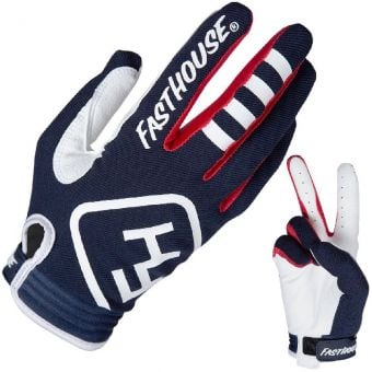 Fasthouse Speed Style Patriot Youth MTB Gloves Navy Blue 2019