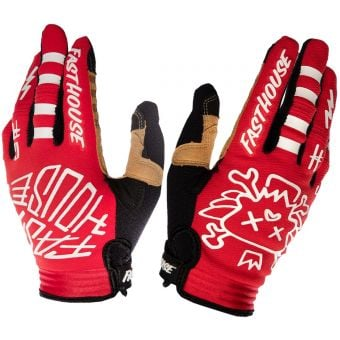 Fasthouse Speed Style Stomp Gloves Red 2020