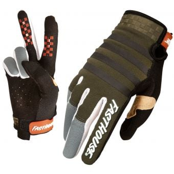 Fasthouse Speed Style Striper Gloves Olive/Charcoal 2021