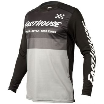 Fasthouse Youth Alloy Kilo LS Jersey Black/Grey 2021