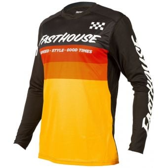 Fasthouse Youth Alloy Kilo LS Jersey Black/Yellow 2021