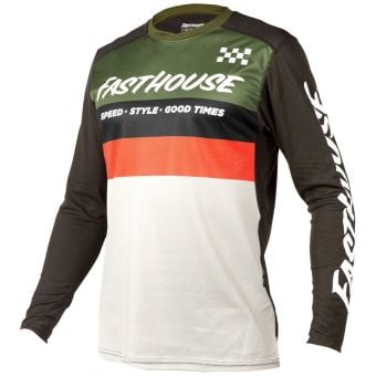 Fasthouse Youth Alloy Kilo LS Jersey Olive/White 2021