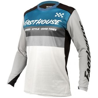Fasthouse Youth Alloy Kilo LS Jersey Slate/White 2021
