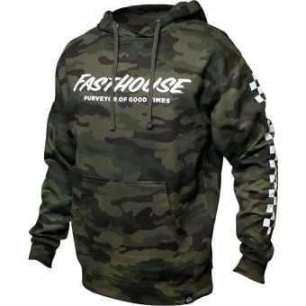 Fasthouse Youth Logo Hooded Pullover Camo 2021
