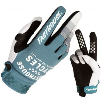 Fasthouse Youth Speed Style Pacer Gloves Slate/White 2021