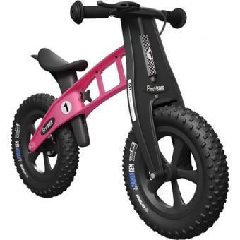 FirstBIKE FAT Cross Balance Bike with Brake Pink