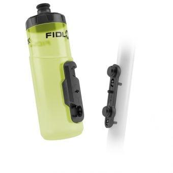 Fidlock 600ml Drink Bottle Twist and Bike Base Set Yellow