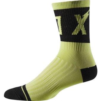 """Fox 6"""" Trail Socks Wurd Green 2020"""