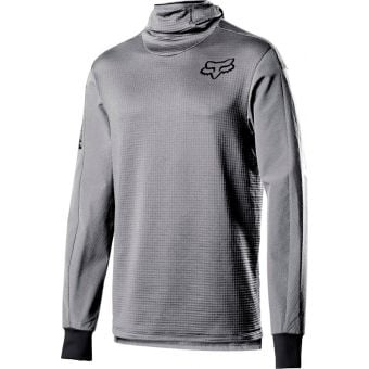 Fox Defend Thermo Hooded Jersey Steel Grey 2021 Small