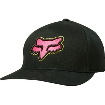 Fox Clothing Epicycle Flexfit Hat Black/Pink Large/X-Large