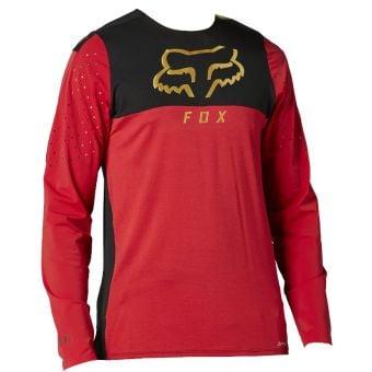 Fox Flexair Delta LS MTB Jersey Chili 2021