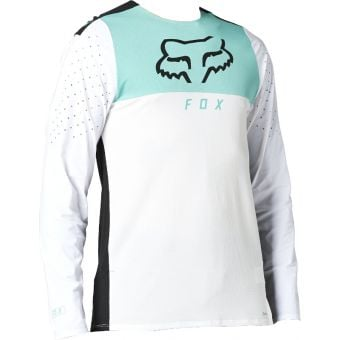 Fox Flexair Delta LS MTB Jersey White 2021