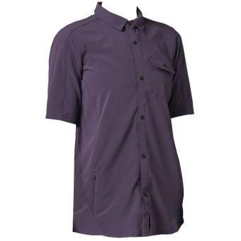 Fox Flexair Womens Woven SS MTB Shirt Dark Purple 2021