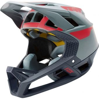 Fox Proframe Full Face MIPS MTB Helmet Quo Light Blue