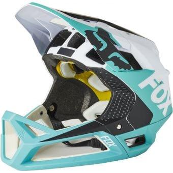 Fox Proframe MIPS Full Face MTB Helmet Blocked Teal Small
