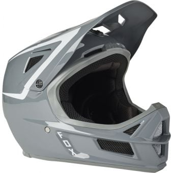 Fox Rampage Comp Repeater MIPS Full Face MTB Helmet Pewter Small