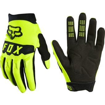 Fox DirtPaw Youth Gloves Fluro Yellow 2021