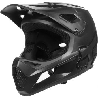 Fox Youth Rampage Full Face MTB Helmet Black/Black Small
