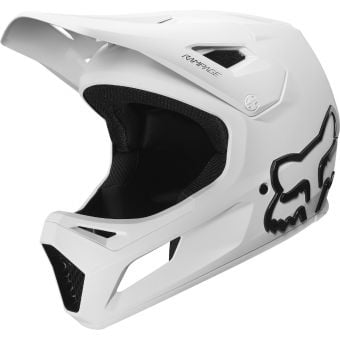 Fox Youth Rampage Full Face MTB Helmet White
