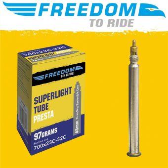 Freedom Superlight 700x23-32c 48mm Presta Valve Tube