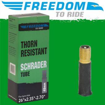 "Tioga Thorn Resistant 26x2.2.35/2.70"" Schrader Valve MTB Tube"