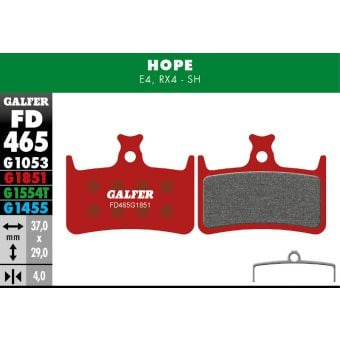 Galfer Bike FD465 HOPE E4 & RX4 Disc Brake Pads View 1