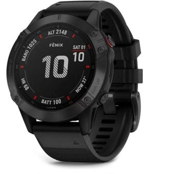 Garmin Fenix 6 Pro 47mm Multisport GPS Watch Black/Black Band