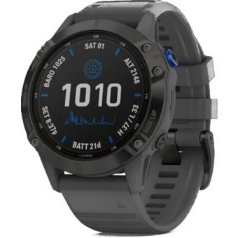 Garmin Fenix 6 Pro Solar Edition Multisport 47mm GPS Black/Slate Grey Band