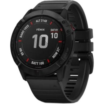 GARMIN fenix 6X Pro Multisport GPS Watch Black with Black Band