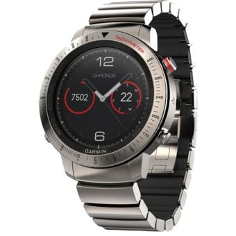 Garmin Fenix Chronos Titanium Multi-Sport GPS Watch with Titanium Hybrid Band