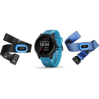 Garmin Forerunner 945 Tri Bundle Music HR Premium GPS Running Smartwatch Blue