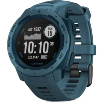 Garmin Instinct HRM GPS Sport Watch Lakeside Blue
