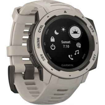 Garmin Instinct HRM GPS Sport Watch Tundra
