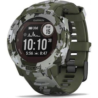 Garmin Instinct Solar Camo Edition GPS Sport Watch Lichen Camo