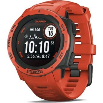 Garmin Instinct Solar GPS Sport Watch Flame Red