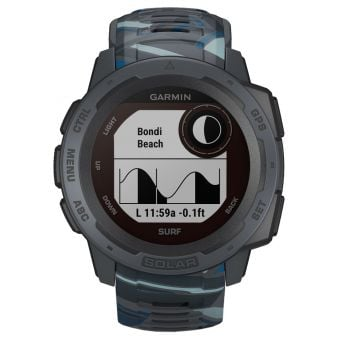 Garmin Instinct Solar Surf Edition GPS Sport Watch Pipeline
